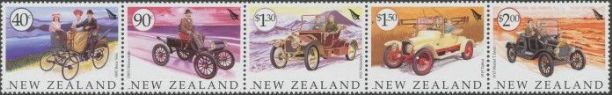 New Zealand Stamp Reward 2003 Vehicles strip of 5